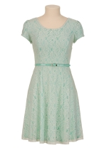 Perfect color and the lace makes it a great choice for a wedding-$44