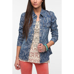 Love the print on this chambray top-gives it a unique flair-$40