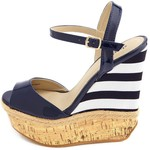 These wedges are a fashionable way to show your patriotic spirit-$36