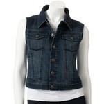Love this dark wash denim vest-$35