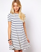 Love the stripes and the cut of this dress-$43