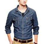 I think this is a fabulous denim shirt for your guy/friend/brother-$29