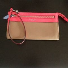 SO cute colorblock Coach wristlet-$45