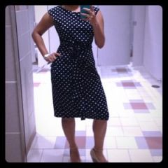 This polka dot dress is amazing-$30