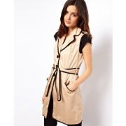 Love this sophisticated, sleeveless trench from Asos-$34!