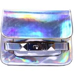 The colors in this hologram satchel are amazing! $4
