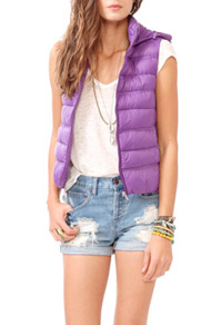 Hooded puffy vest-$21