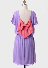 Bow back dress-$30