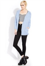 I love the beautiful periwinkle blue of this sweater-it'll look smashing with white jeans for spring! $37